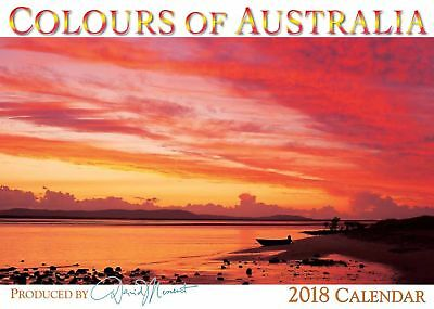 2018 Wall Calendar - Colours of Australia by David Messent - NEW FREE POST