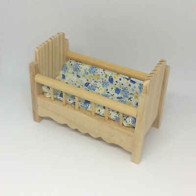 Exceptionnel Dollhouse Miniature Baby Crib Of Unfinished Wood | Nursery, Baby Room  Furniture
