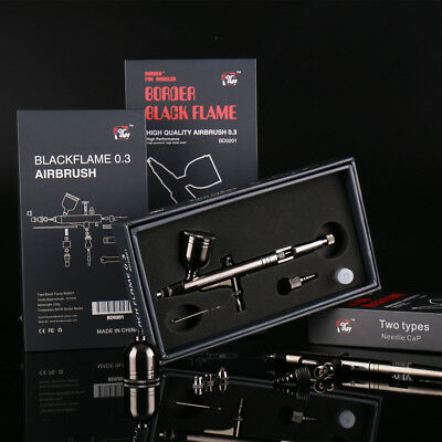 Black Flame BD0201 Airbrush Spay Gun 0.3mm High Performance for Modeling Use