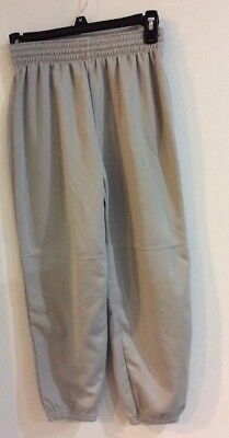 Adidas Climalite Boys/ Girls  Gray Baseball Sport Pants   Size M VGC