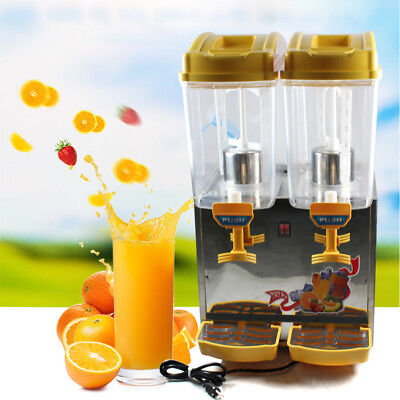 2Tank 17L Commercial Soft Drink Juice Beverage/Dispenser Machine 2 Cylinder 250W