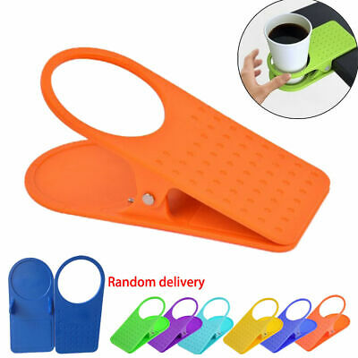 1pc Universal Clip On Desk Table Cup Bottle Beverage Holder Non-Slip Stand Grip