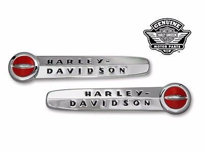 FREE SHIP Harley Davidson Replica Gas Tank Emblems & Mount Stripe set 1947-50