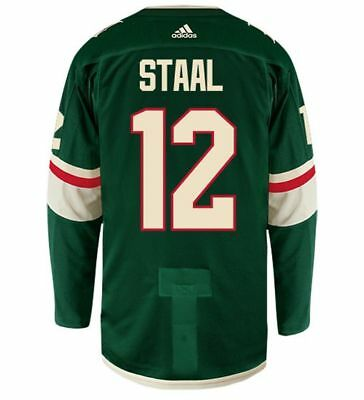 ERIC STAAL MINNESOTA WILD adidas AUTHENTIC HOME NHL HOCKEY JERSEY da49f5db8