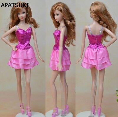 "Fashion Doll Clothes Multi-layer Mini Dress For 11.5"" Doll Fitting 1:6 Dresses"