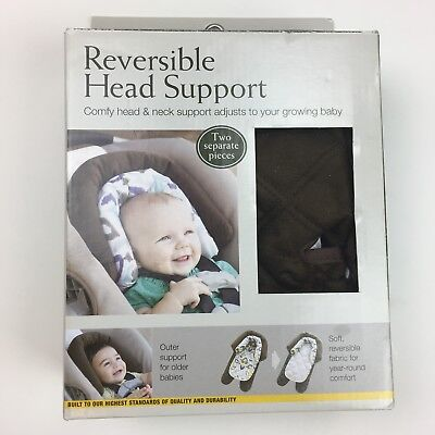 Eddie Bauer Baby Reversible Head Support Infant Car Seat Adjustable Brown/White