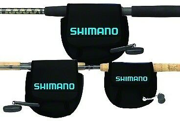 Shimano ANSC850A Neoprene Spinning Reel Cover Lg Black