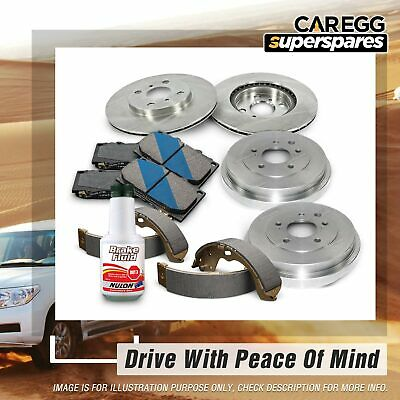 Brake Rotors Drums Pads Shoes Fluid For Holden Rodeo RA TFS26 TFS77 4WD 03-06