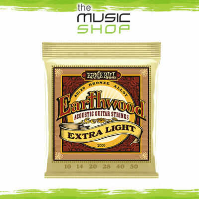 5 x Ernie Ball 2006 Earthwood 10-50  Bronze Acoustic Guitar Strings Extra Light
