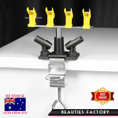 6 Slots Airbrush Holder Tattoo Art Spray Gun Stand Clamp On Table 3078