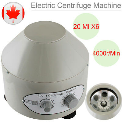 110V Electric Centrifuge Machine Lab Medical Practice 4000rpm with 6X 20MI Rotor