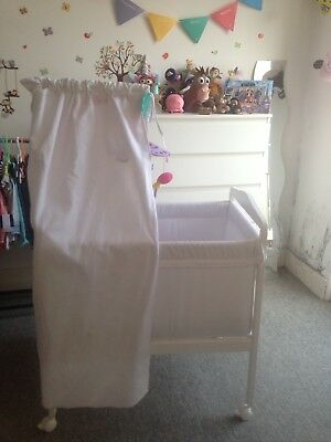f345f719cf ZARA HOME BABY mini cot / crib with wheels and canopy VGC Gorgeous ...