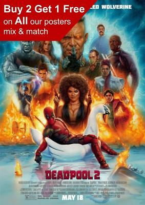 Deadpool 2 Movie Poster A5 A4 A3 A2 A1