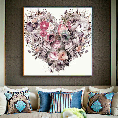 DIY 5D Diamond Painting Embroidery Cross Craft Stitch Kit Skull Love Home Decor