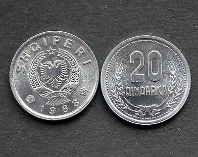 Albanien Albania 20 QINDARKA 1988 UNC COIN CURRENCY