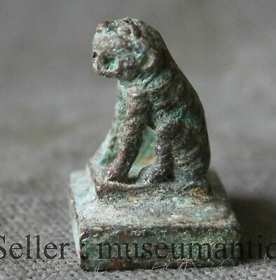 Old Chinese Ancient Bronze Animal Tiger Dynasty imperial Seal Stamp Signet