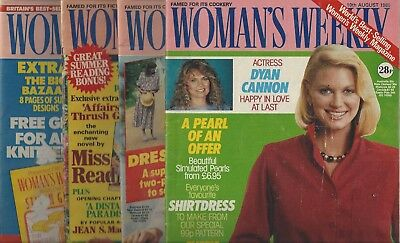 Vintage Lot of (4) Woman's Weekly (1983-1986 U.K.) Dyan Cannon ~Rachel Bell~F624