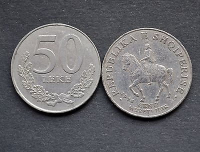 Albanien Albania 50 LEKE ND(1996-2000) CIRCULATED COIN CURRENCY >King Gentius