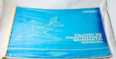 Flight Safety Falcon 50 Maintenance Schematic Manual NEW in package