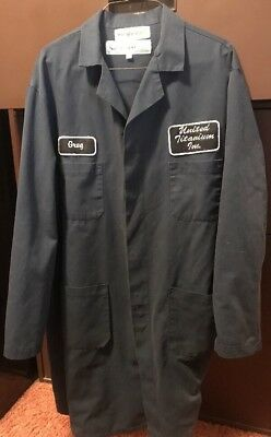Men's Blue Regent Lab Coat-Large with Company Logo Tag