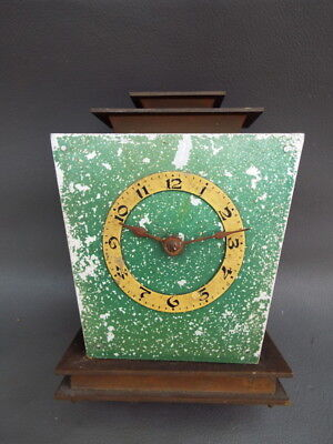 Vintage Art Deco anniversary dome clock movement GES gesch - repair or spares