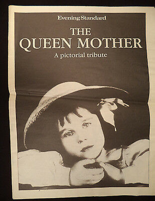 Evening Standard THE QUEEN MOTHER Pictoral Tribute 2002 Newspaper Obituary biog
