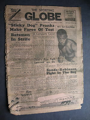 Sporting Globe  6 DEC 1950 POOR COPY  POOOOOR COPY