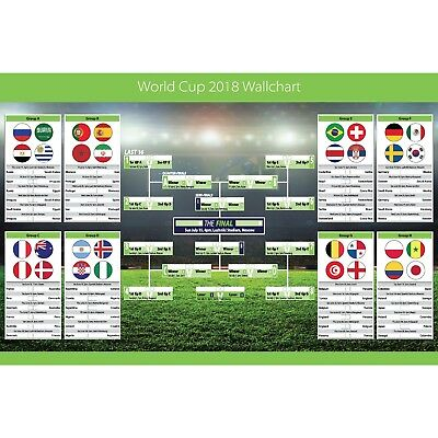 World Cup 2018 Football Wall Planner Wallchart Poster
