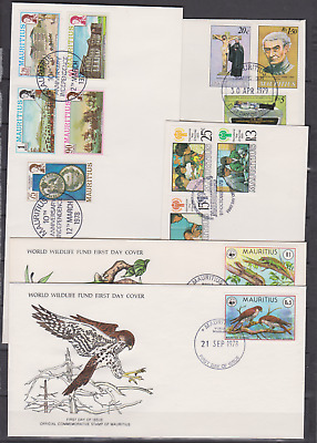 Mauritius 1970's/90's Collection First Day Covers Mostly Unadressed