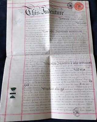 Vellum Indenture Related to People  and Property  at Pangbourne, Berkshire 1885