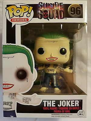 NEW Funko POP Movies: Suicide Squad Action Figure, The Joker Shirtless