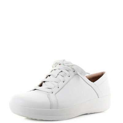 391633c9f Womens Fitflop F-Sporty 2 Lace Up Sneakers Leather White Trainers Shu Size