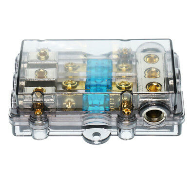 60A 3 Way Audio Fuse Holder Distribution Block 1 in 3 out Conversion Kit