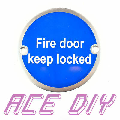 "Fire Door Keep Locked Disc | 3 "" ( 75 mm ) SAA Safety Warning Plaque Sign Discs"