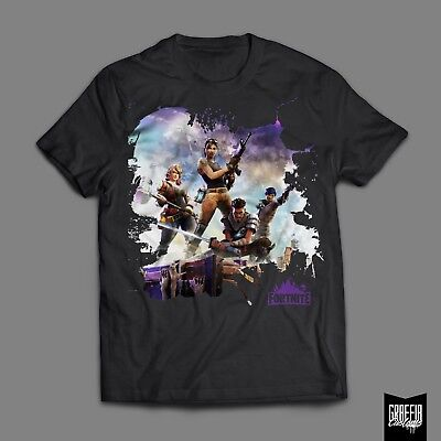 FORTNITE Gamer Tee Gift T-Shirt Black/White Xbox Playstation Adults Kids