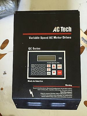 Used Ac Tech Q14015A Variable Speed Ac Motor Drive, 15 Hp,boxzq