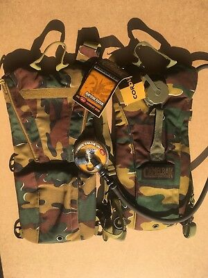 Military Camelbag chemical resisant with Stealth bag Belgian army camo NEW