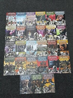 the walking dead volumes 1 - 27 comic book bundle image horror kirkman adlard