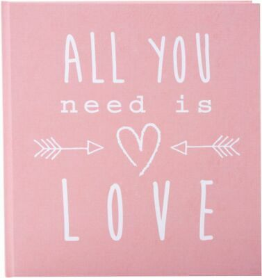 Hochzeitstagebuch All you need is love rosa
