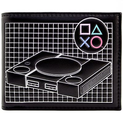 New Official Playstation Retro Classic Console Hardware Id & Card Bi-Fold Wallet