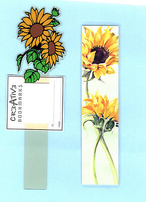 2x Book marks Yellow Sunflower Flowers Floral Wild Garden Lover Gift Her Teacher