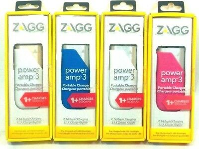 ZAGG Power Amp 3 Universal Battery Charger 3,000mAh for Smartphones
