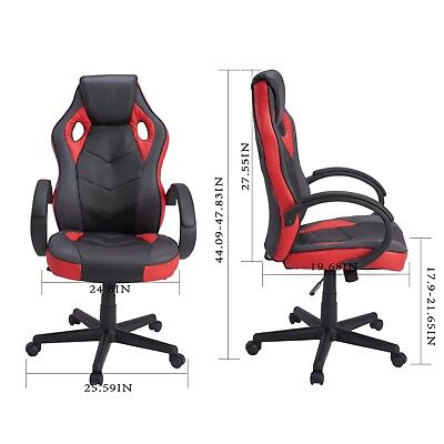 Computer Chair Gaming Chair High Back PU Leather Executive Swivel Task Chair NEW