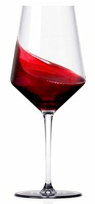 OpenBox Miko Wine Glasses, Pure Lead Free Crystal, Wine Glass Set Of 6 Cabernet