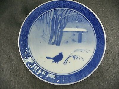 Royal Copenhagen Christmas Plate 1919 Christmas in Park Birds