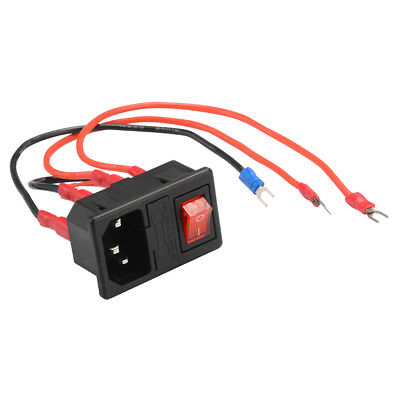 220V/110V Power Supply Switch Outlet with Socket Fuse for 3D Printer DIY TE914