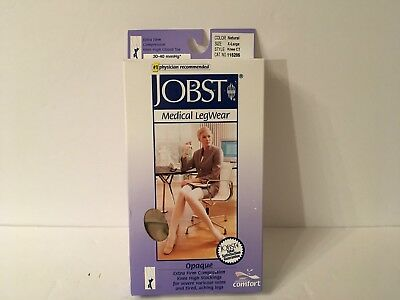 Jobst Opaque Compression Stockings 115285 Natural Knee XL 30-40 Extra Firm