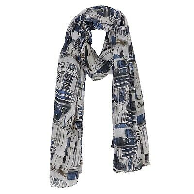 Star Wars R2D2 Printed Fashion Viscose Scarf Licensed Robot Lightweight Shawl