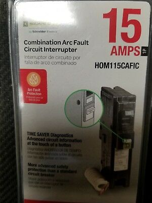 *NEW* Square D Homeline 15 Amp Single-Pole Combination Arc Fault Circuit Breaker