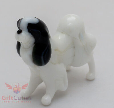 Art Blown Glass Figurine of the Japanese Chin Dog